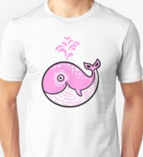 Pink Smile Whale character Unisex T-Shirt