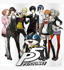 Persona 5 characters Poster