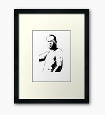 Bruce Willis - Die Hard Framed Print