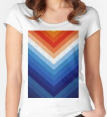 Blue and orange art I Women's Fitted Scoop T-Shirt