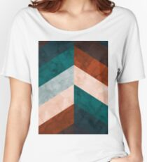 Watercolor chevron Women's Relaxed Fit T-Shirt