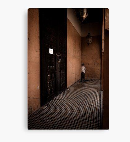 A quiet corner to pray Canvas Print
