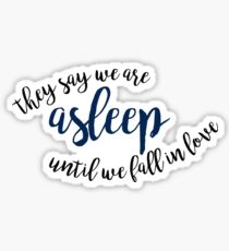 they say we are asleep until we fall in love - great comet Sticker