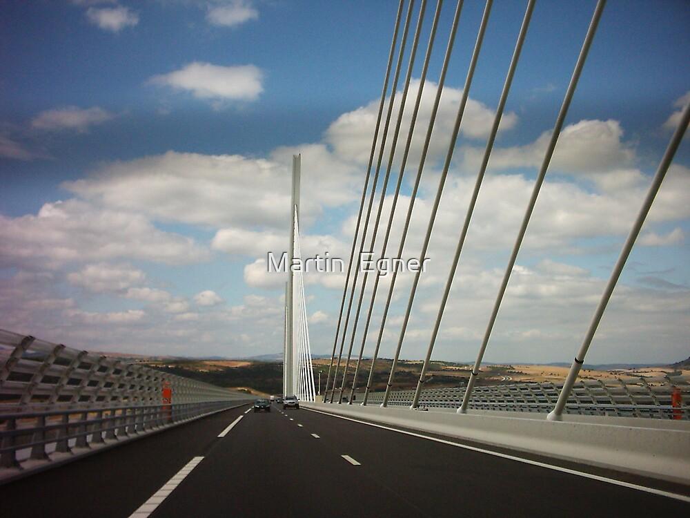 On the Millau Bridge, France by Martin  Egner