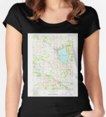 USGS TOPO Map Indiana IN Culver 159720 1962 24000 Tailliertes Rundhals-Shirt