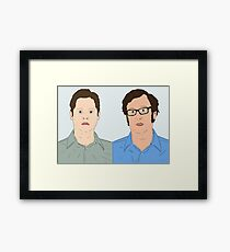 Tim and Eric Framed Print