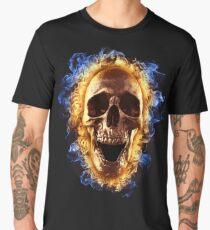Skull burning in fire T-shirt Men's Premium T-Shirt