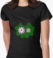 Day-Flowers Women's Fitted T-Shirt