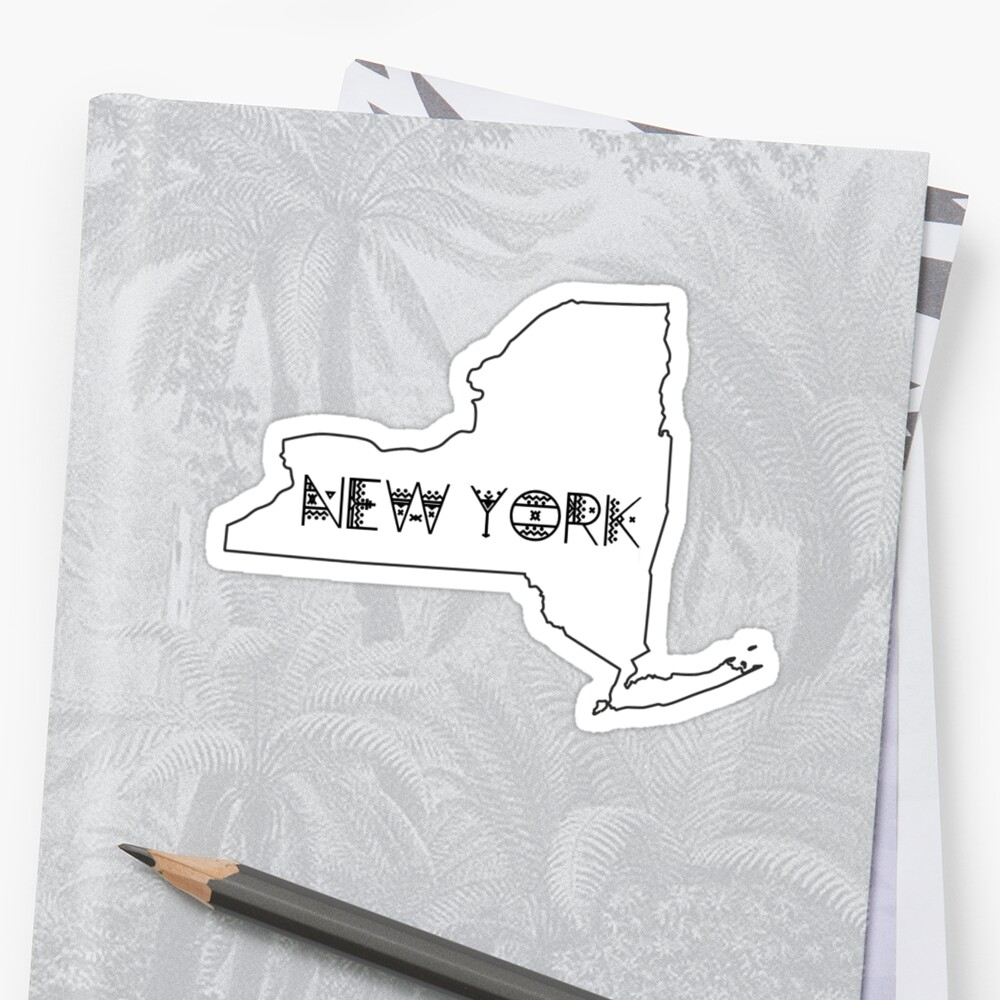 State Outline - New York by Nicole-Owens