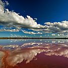 Pink Lake - near Dimboola by Victor Pugatschew
