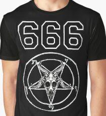 Baphomet 666 Grafik T-Shirt
