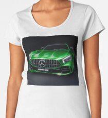 Stylized illustration 2017 Mercedes AMG GT R Coupe sports car art print Women's Premium T-Shirt