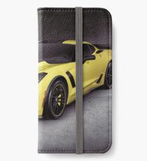 2016 Chevrolet Corvette Z06 coupe sports car art photo print iPhone Wallet/Case/Skin