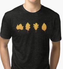 Autumn leaf (black) Tri-blend T-Shirt