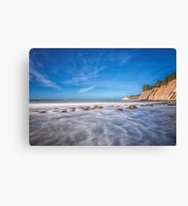 In Color Bowling Ball Beach in Northern California Canvas Print