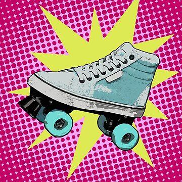 Modern Retro Rollerskate by XMSCreations