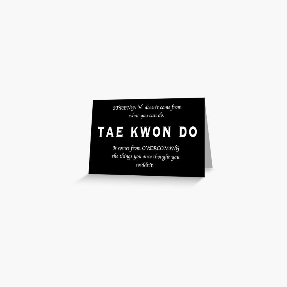 Cita Inspirada de Tae Kwon Do Tarjetas de felicitación