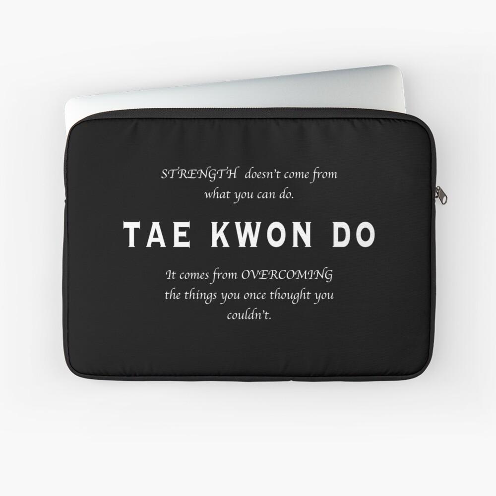 Cita Inspirada de Tae Kwon Do Funda para portátil