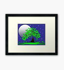 Dreamy Night Moon Framed Print