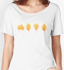 Autumn leaf (orange) Women's Relaxed Fit T-Shirt