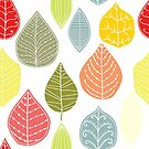 Colorful Abstract Leafs Pattern by artonwear