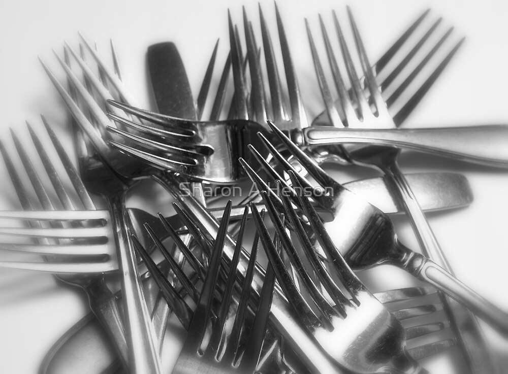 PILE OF FORKS by Sharon A Henson
