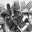 PILE OF FORKS by Sharon A. Henson