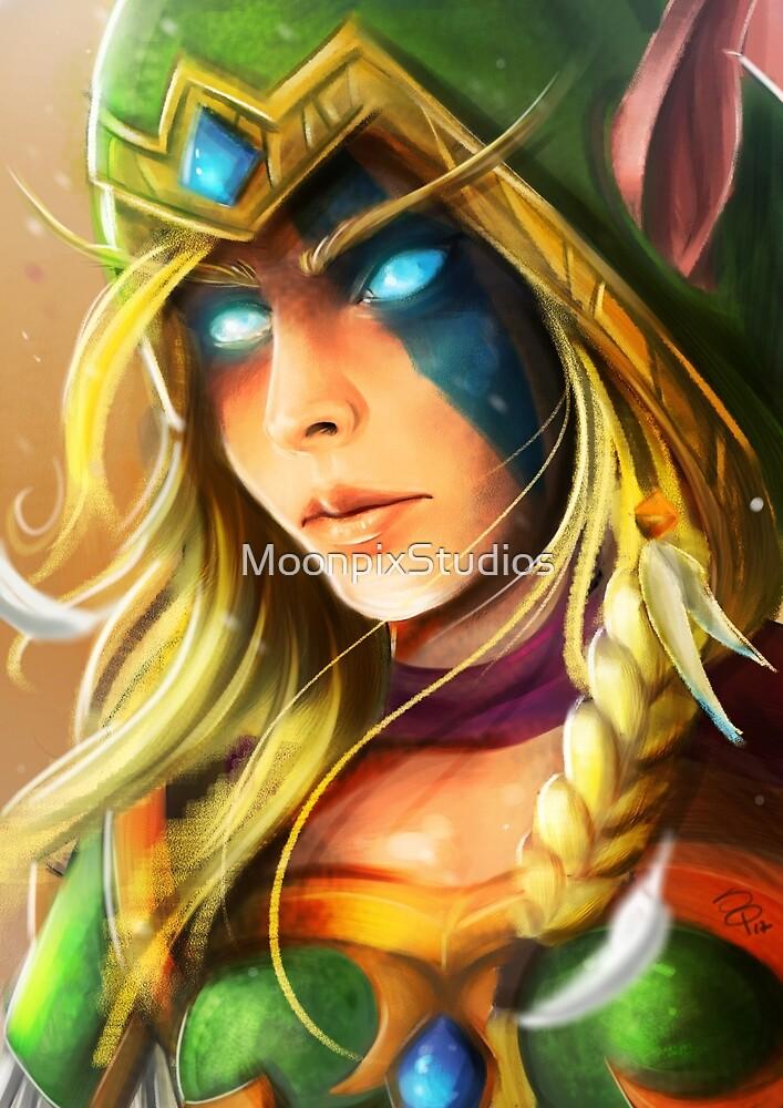 Alleria Windrunner, Fanart of Warcraft by MoonpixStudios