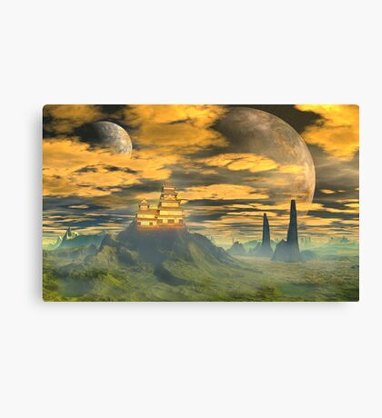 Castle of the Great Wu. Canvas Print