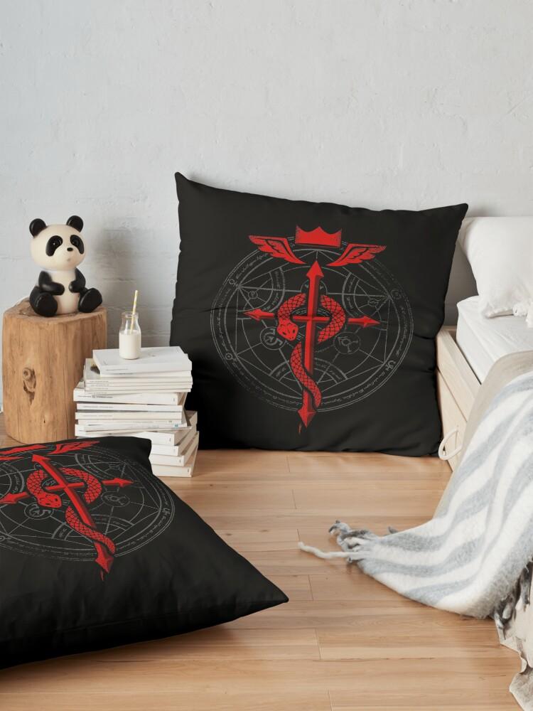 Alternative Ansicht von Fullmetal Alchemist Flamel Bodenkissen