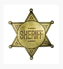 Vintage Sheriff Badge Photographic Print