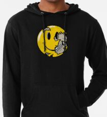 Smiley face skull Lightweight Hoodie