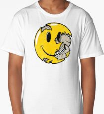 Smiley face skull Long T-Shirt
