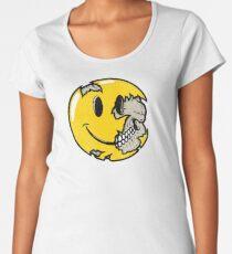 Smiley face skull Women's Premium T-Shirt