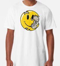 Camiseta larga Cara sonriente calavera
