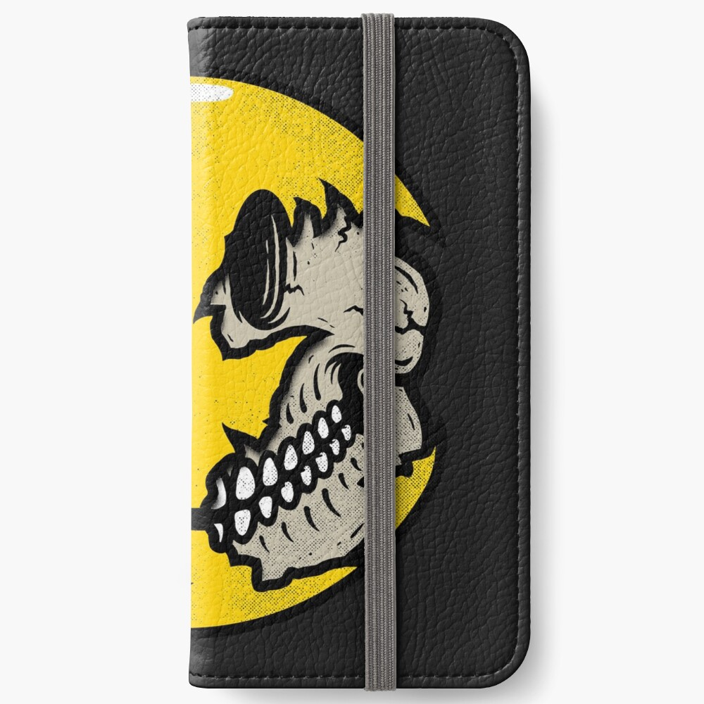 Smiley face skull iPhone Wallet
