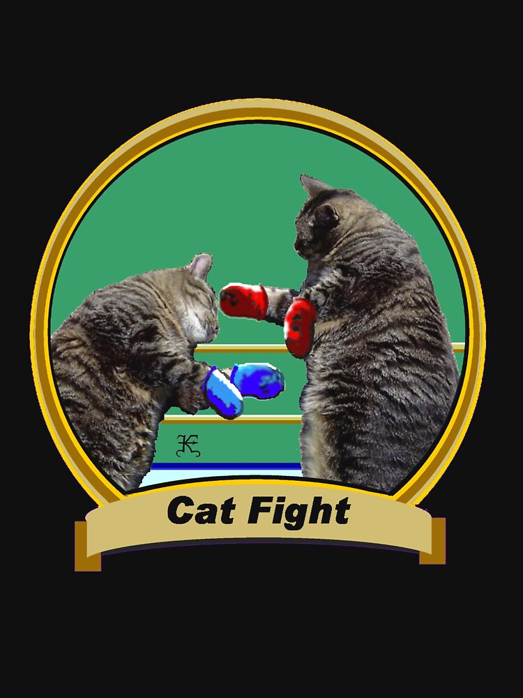 Cat Fight- 'Kittys on the Canvas' by KevynPEisenman