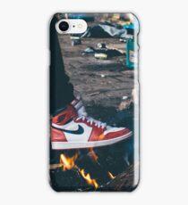 Jordan Sneakers On Fire iPhone Case/Skin