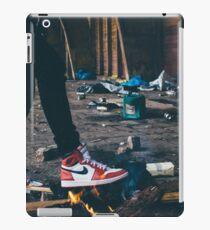 Jordan Sneakers On Fire iPad Case/Skin