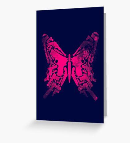 Gun Butterfly Greeting Card