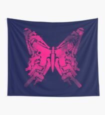 Gun Butterfly Wall Tapestry