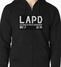 LAPD Zipped Hoodie