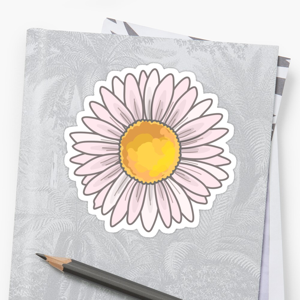 Pink Daisy Stickers