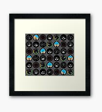 Flight Instruments Framed Print