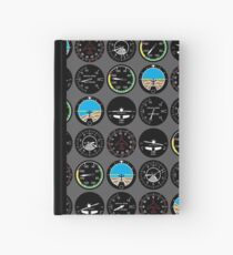 Flight Instruments Hardcover Journal