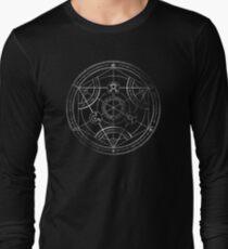 Human transmutation circle - chalk Long Sleeve T-Shirt