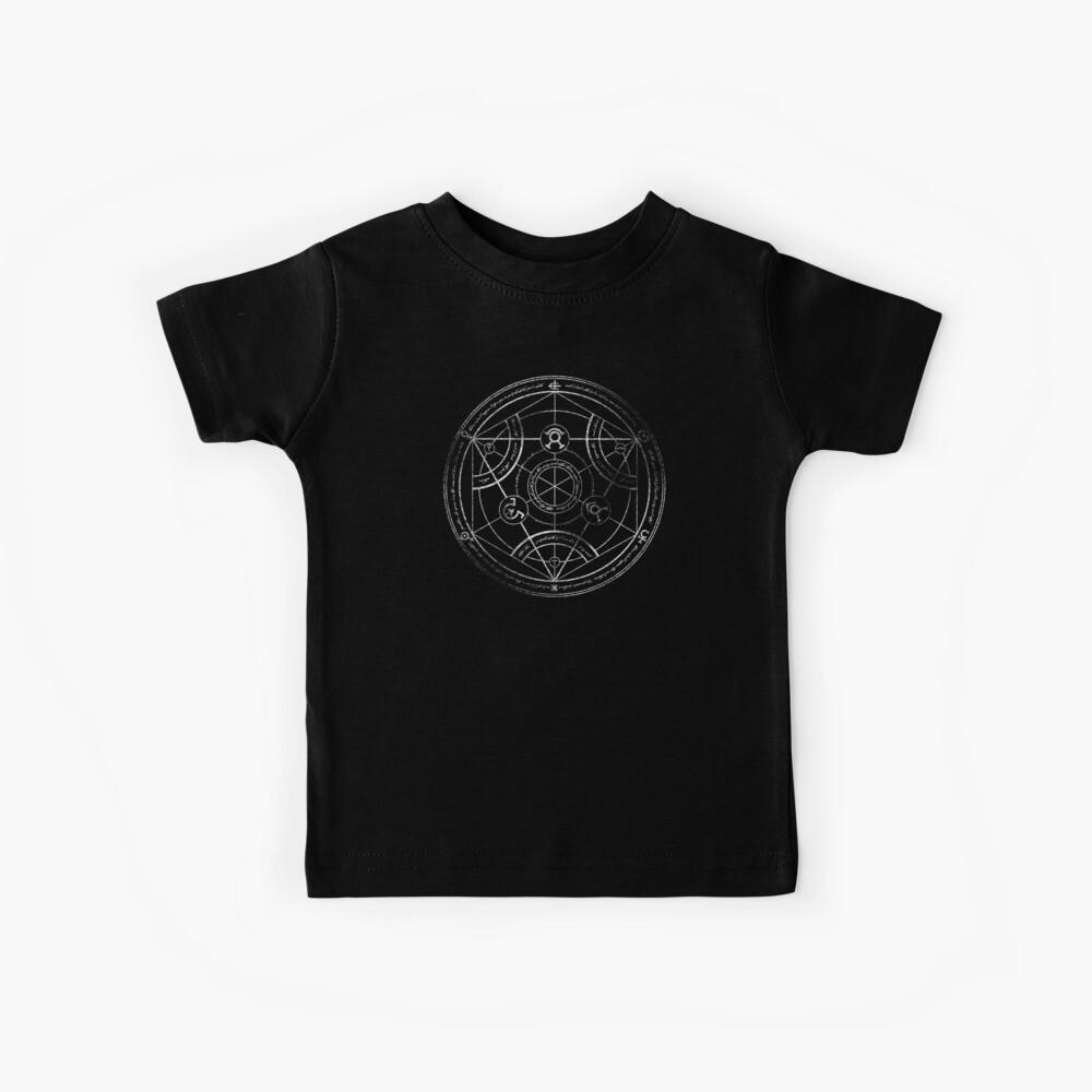 Human transmutation circle - chalk Kids T-Shirt