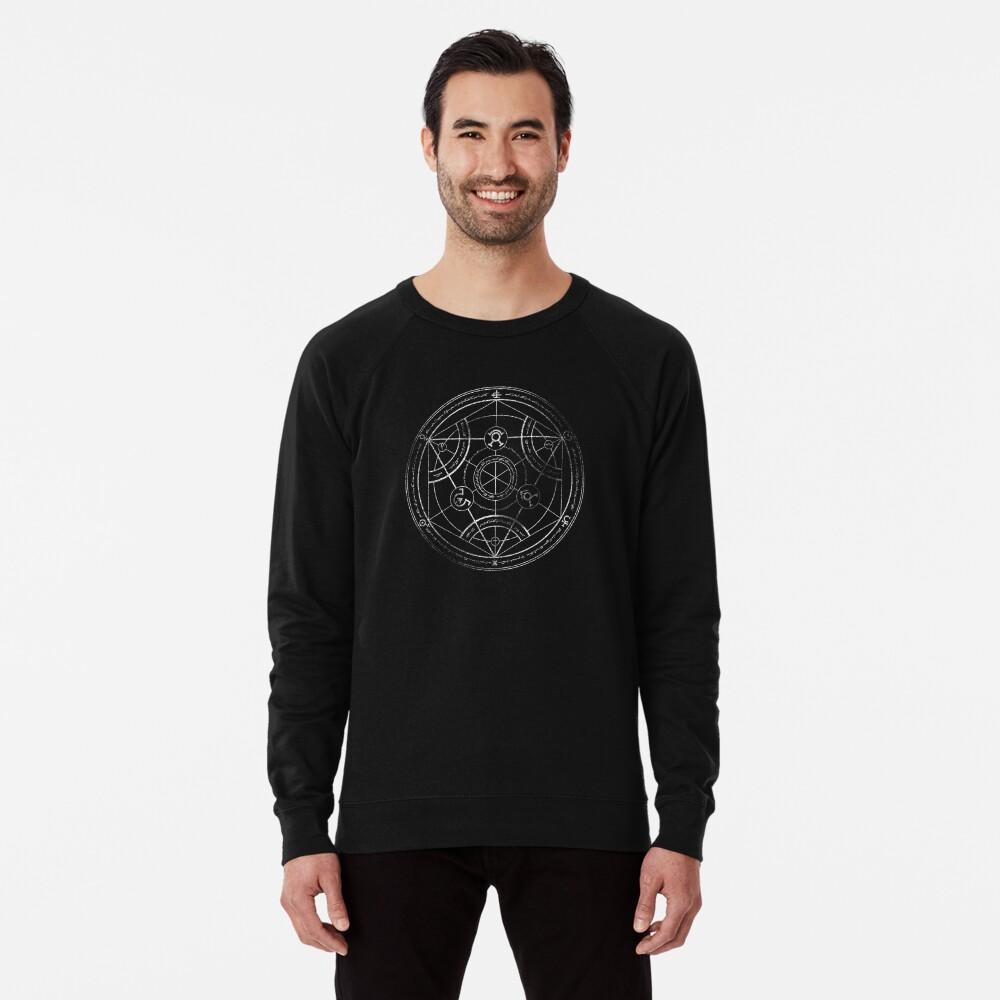 Human transmutation circle - chalk Lightweight Sweatshirt