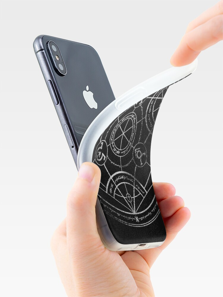 Alternate view of Human transmutation circle - chalk iPhone Cases & Covers