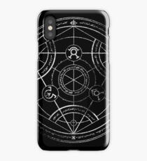 Human transmutation circle - chalk iPhone Case/Skin